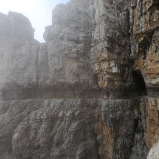 Felsenband am Sentiero Bocchette Centrale
