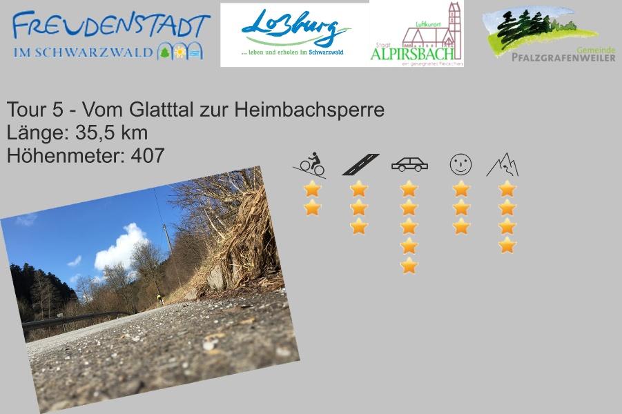 Freudenstadt RR Tour 5 Vom Glatttal zur Heimbachsperre