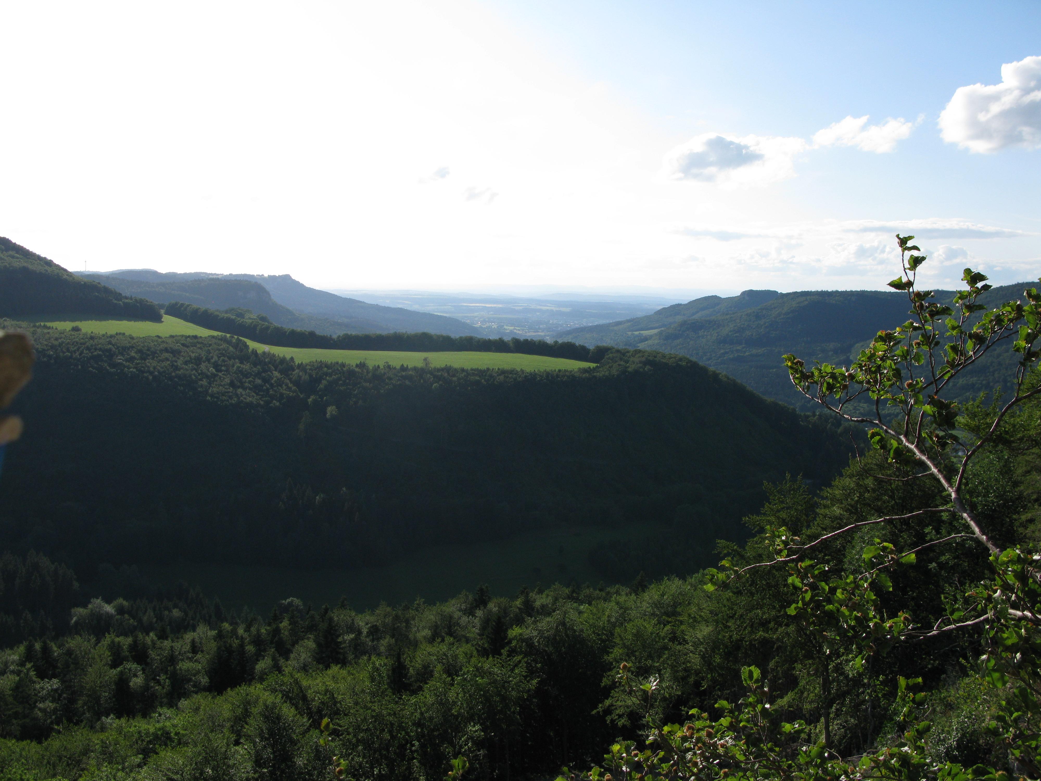 Blick vom Torfelsen Richtung Eyachtal