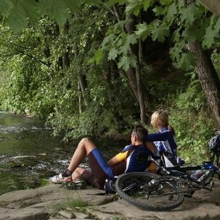 Radfahrer im Frankenwald