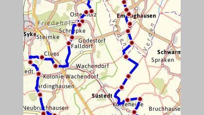 63,2 km i. d. Kreisen VER und DH