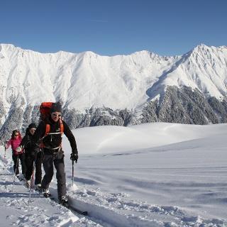 Blick auf die Pflerscher Skitourengipfel