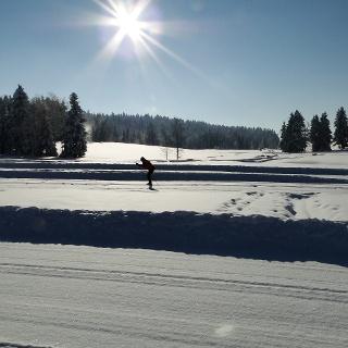 Gut präparierte Loipen im Nordic Sport Park Sulzberg