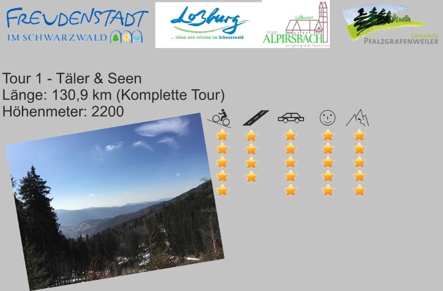 Freudenstadt RR Tour 1 Täler & Seen