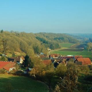 Diembot mit Blick auf die Kirchberger Altstadt