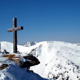 Silberling Gipfelkreuz ~1930m
