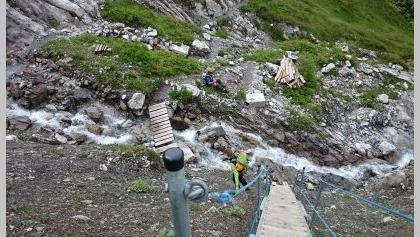 neu angelegte Treppe