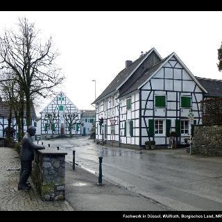 Fachwerk in Düssel, Wülfrath, Bergisches Land, NRW, Deutschland