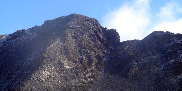 Blick von der Rosshornscharte zum Rosshorn (Aufstieg erfolt über den mittigen Rücken).