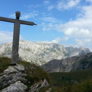 Rotsopielscheibe Gipfelkreuz