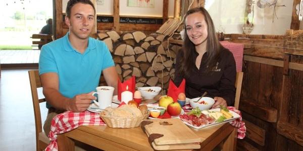 Regionales Frühstück im Café der Naturpark-Marktscheune