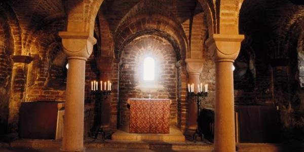 Klosterruine Limburg Krypta