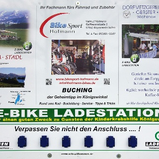 Schild e-bike Ladestation