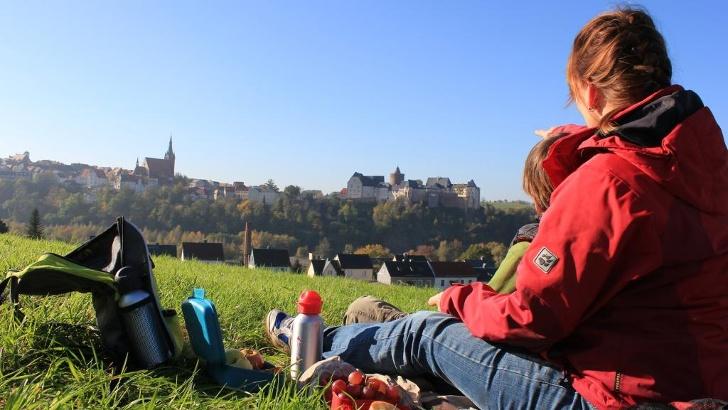 Picknick vor der Burg Mildenstein, Leisnig