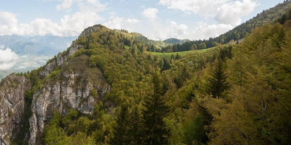 On the trail to Malga di Tenno