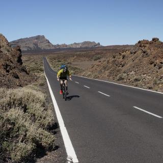 im Parque Nacional del Teide: hier ist das Radeln nur auf Straßen erlaubt.