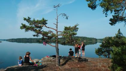 Aussicht über einen südschwedischen See