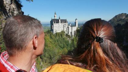 Blick von der Marienbrücke auf Schloss Neuschwanstein