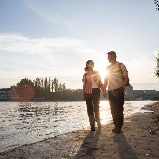 Wanderer vor Konstanz