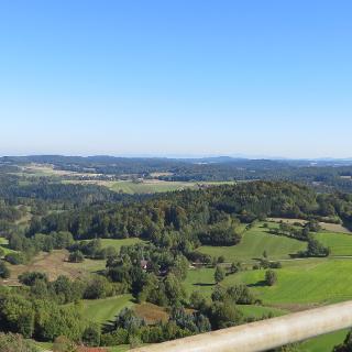 Blick vom Aussichtsturm Burgruine Brennberg