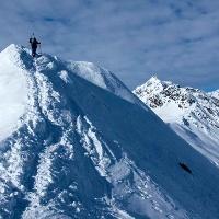 Bei guten Verhältnissen ist der Gipfelanstieg einfach.