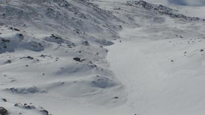 Blick vom Lindersee auf den hier steiler werdenden Anstieg zur Zirbitzkogelhütte