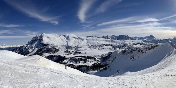 Panoramablick vom Dürrenstein bis zu den Dreizinnen