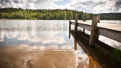 Blick über einen See