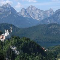 Blick auf die Königsschlösser Neuschwanstein und Hohenschwangau