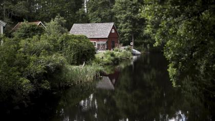 Rotes Bauernhaus