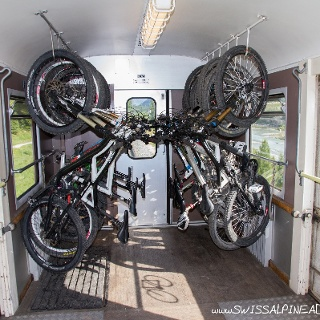 Plenty of space for bikes on the trains