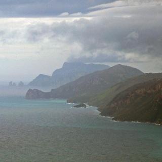 Blick zur Insel Capri