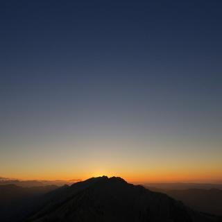 Sonnenuntergang über dem Rindalphorn (Blick vom Sedererstuiben)
