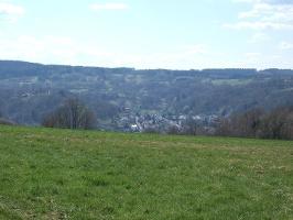 Freie Aussicht auf Bad Orb bis zum Molkenberg