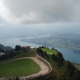 Looking down at Rigi Staffel from Rigi Kulm