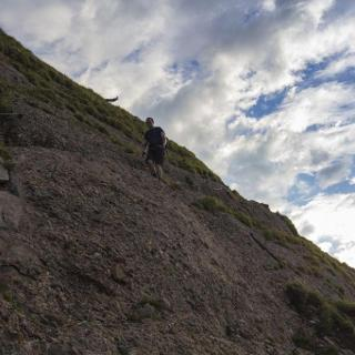 Kletterei beim Abstieg vom Steineberg