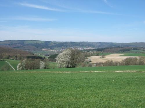 Panoramablick bis in den Vogelsberg
