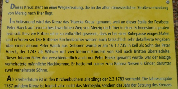 Infotafel Haecke-Kreuz
