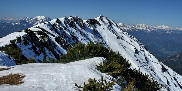 Gamsstein Blick zum Gipfel