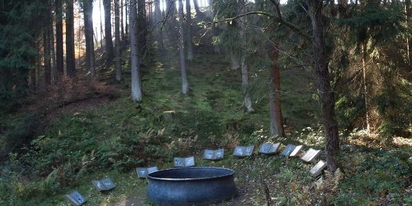 Skulptur Hexenplatz von lili Fischer des WaldSkulpturenWegs Sauerland - Wittgenstein