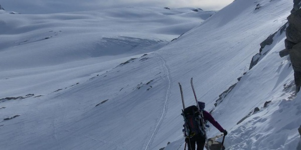 Abstieg zum Gornergletscher