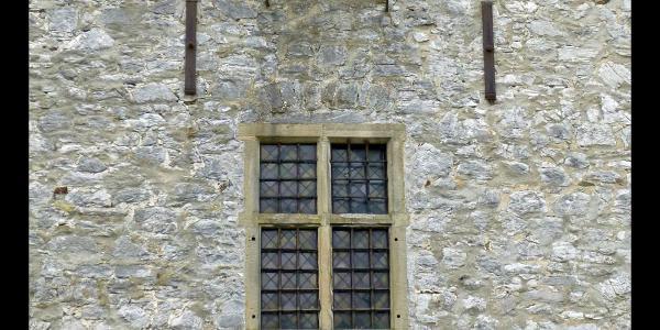 Fenster am Bergfried von Haus Schöller, Wuppertal, Bergisches Land, NRW, Deutschland