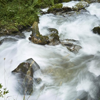 Das schattige Ufer und das Kühle Nass des St. Oswalder Baches verschaffen gerade an heißen Sommertagen willkommene Abkühlung