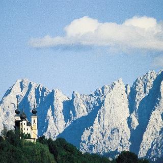 Blick auf die Wallfahrtskirche Frauenberg