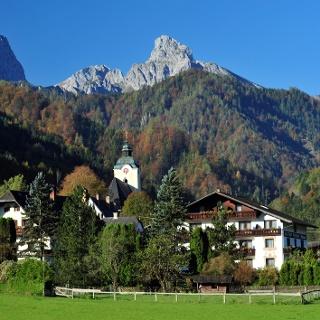 Kirchenlandl mit Tieflimauer, Großen und Kleinem Buchstein im Hintergrund