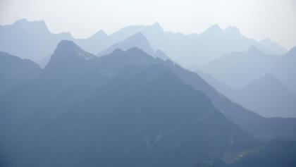 Blick nach Westen: Gewitterstimmung im Karwendel