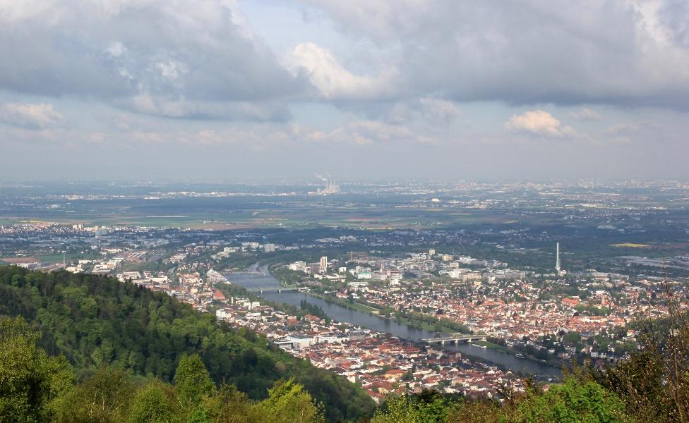 Duisburg-Rom Etappe 05 Weinheim - Heidelberg - Bruchsal - Bad Herrenalb