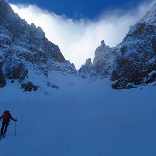 Im großen Kessel des Travignolo-Gletschers