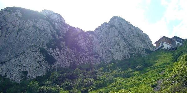 Weg Richtung Roß- und Buchstein Gipfel