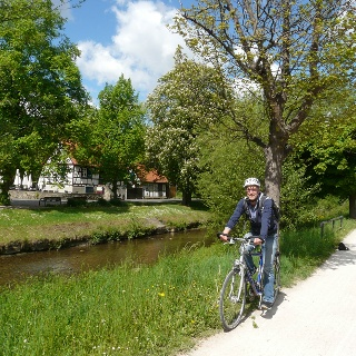 Im idyllischen Bad Nauheim machen wir gerne mal kurz Rast.